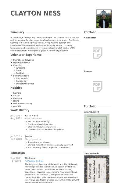 Farm Hand Resume samples - VisualCV resume samples database