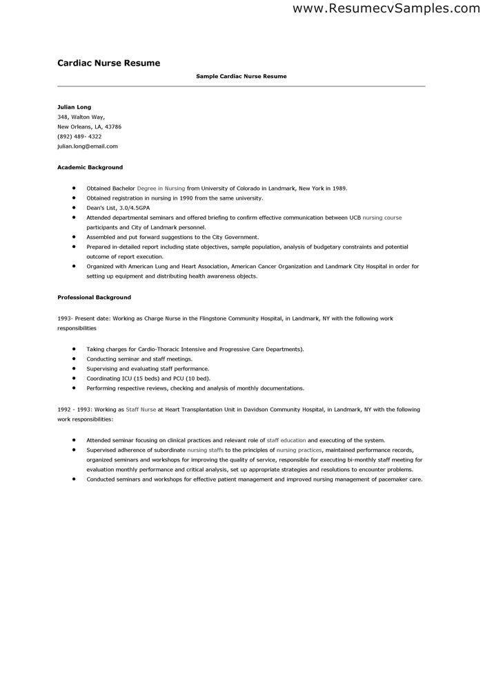 Cover letter sample for rn resume