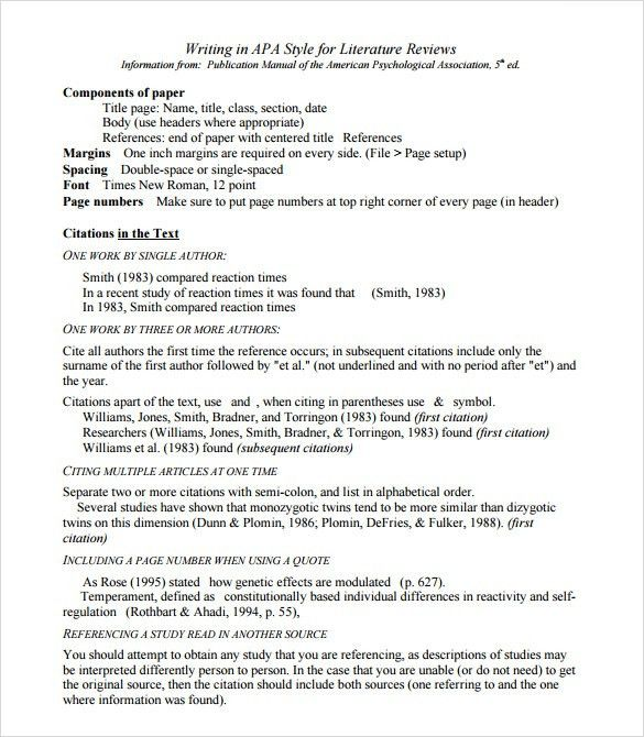 Literature review outline example apa - Get Qualified Custom ...