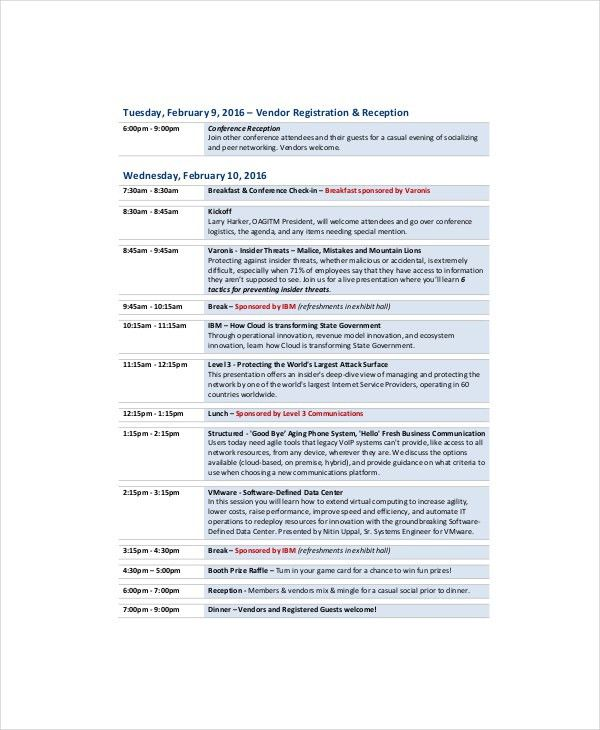 Professional Agenda Template - 5+ Free Word, PDF Documents ...