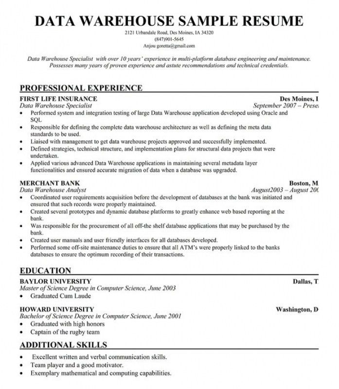 Warehouse Supervisor Resume – Resume Examples