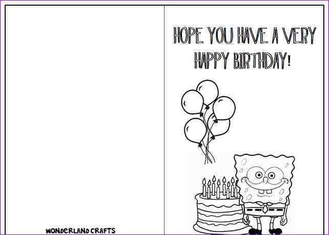 Print A Birthday Card Template | Card Design Ideas