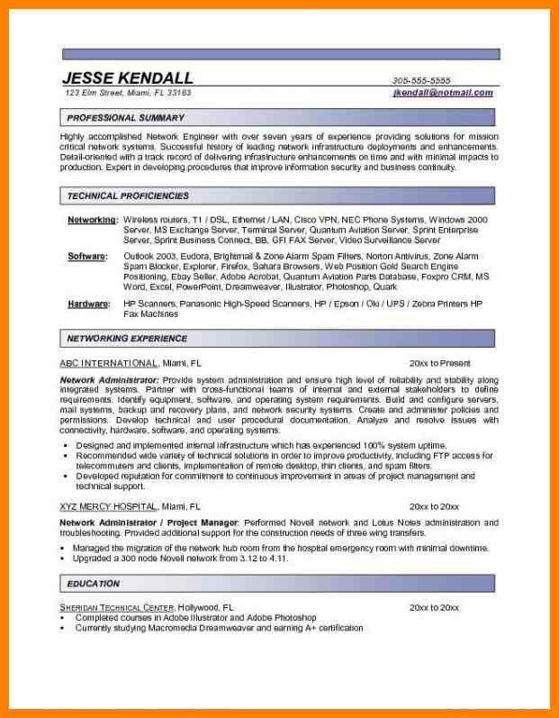 9+ entry level network engineer resume | resigning letter