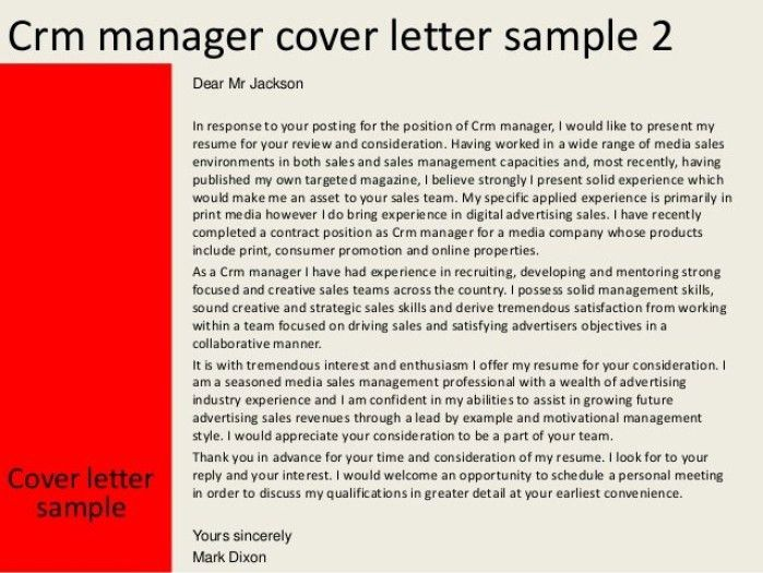 Crm Developer Cover Letter