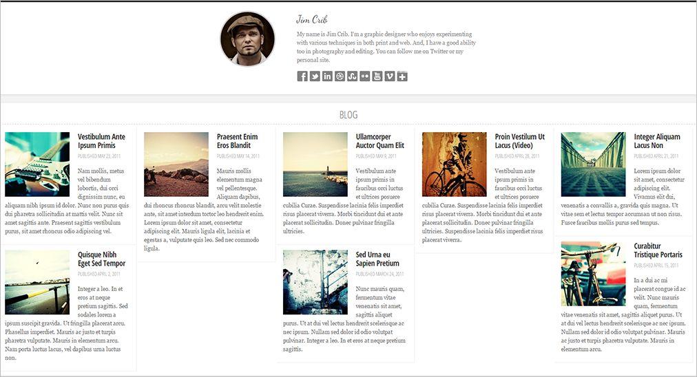 Responsive Blog Themes Free & Premium Templates | Creative Template