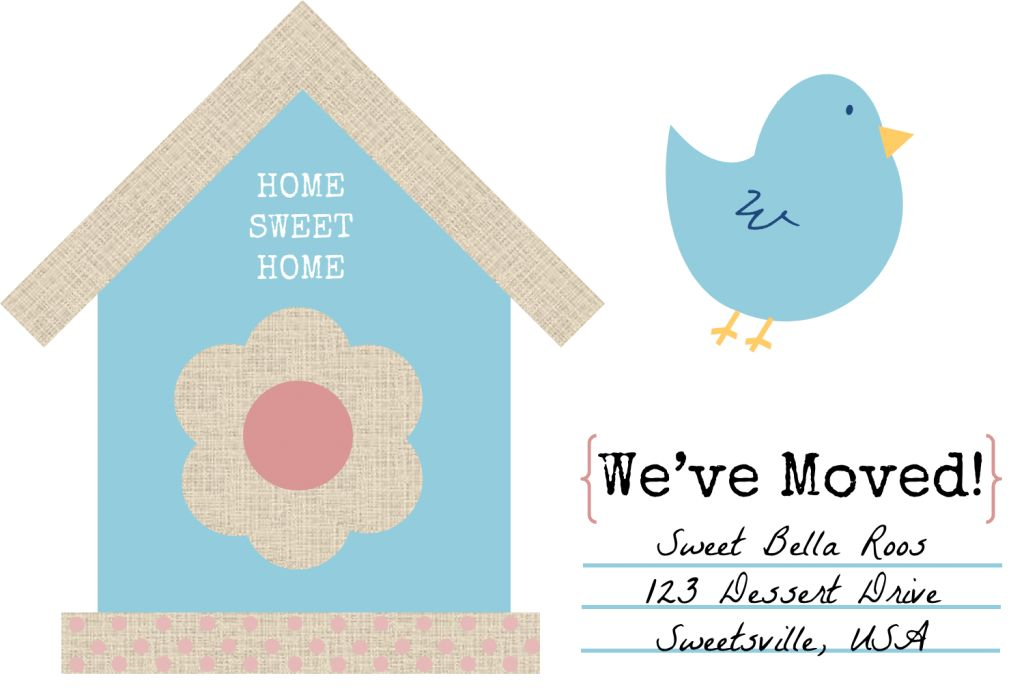 Free Change of Address Printables- Sweet Bella Roos