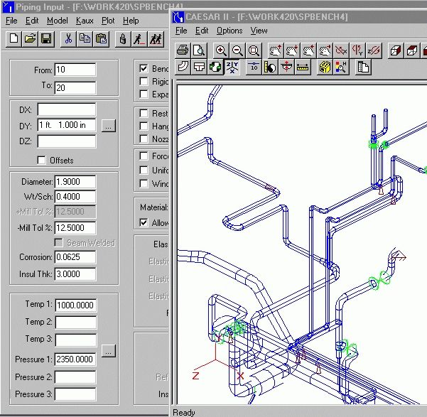 Chempute Software -Pipe Stress Analysis