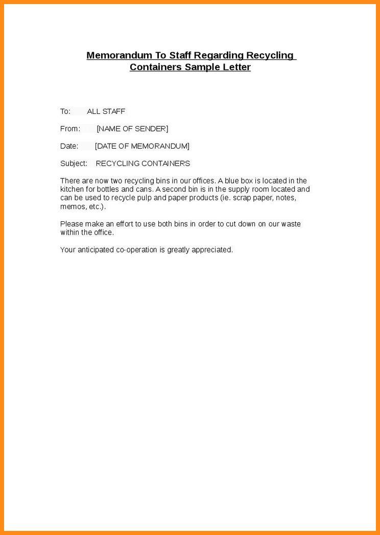 9+ memorandum sample for employee | musicre sumed