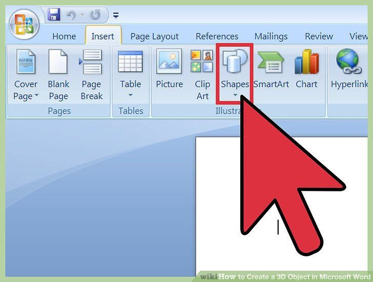 3 Ways to Create a 3D Object in Microsoft Word - wikiHow