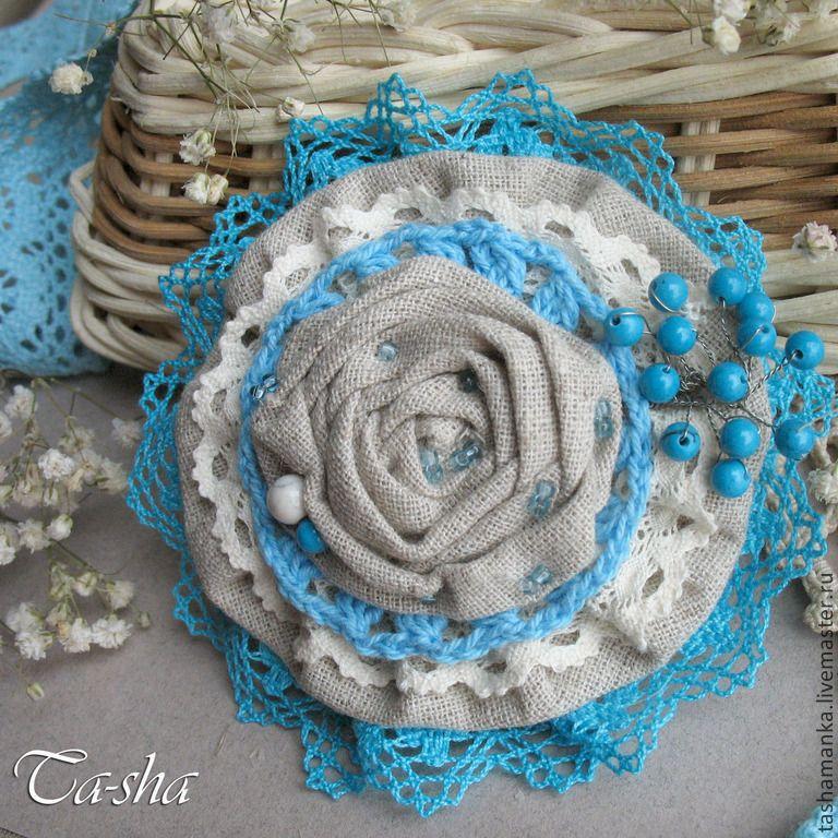 Как сделать текстильную брошь в стиле бохо