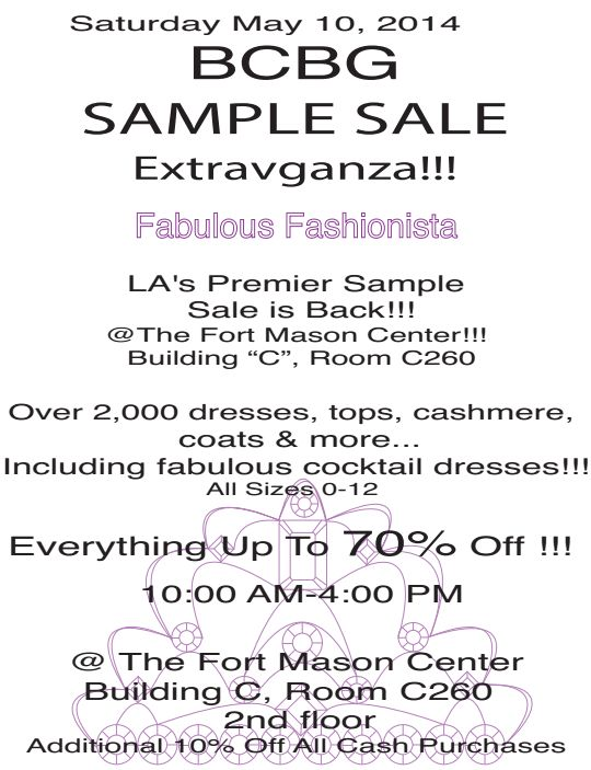 picture. bcbg maxazria holiday warehouse sale. bhldn sample sale ...