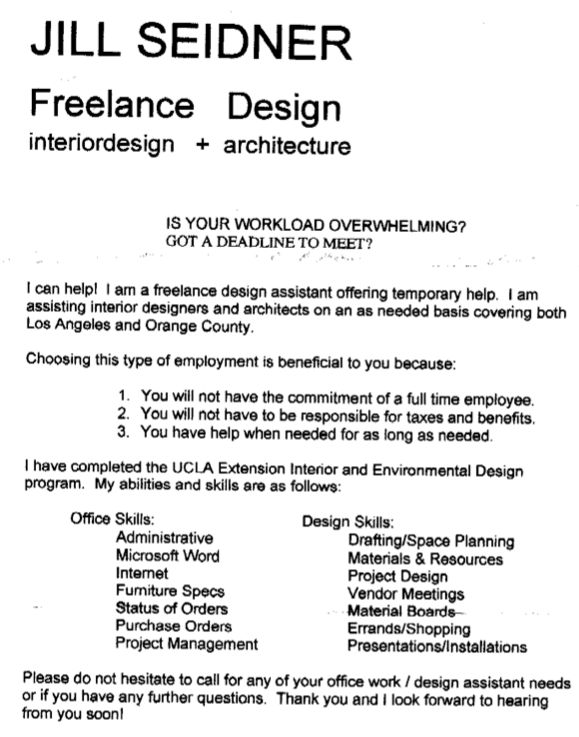 Freelance Fashion Designer Cover Letter