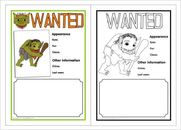 Wanted Poster Template – 53+ Free Printable Word, PSD ...