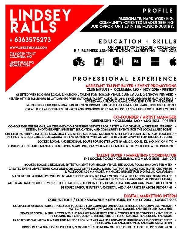 Resume talent buyer
