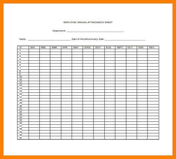 8+ free attendance sheet | addressing letter