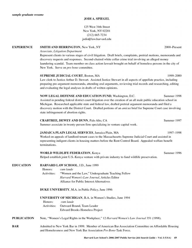 10 Resume For Law School Application Resume law school resume ...