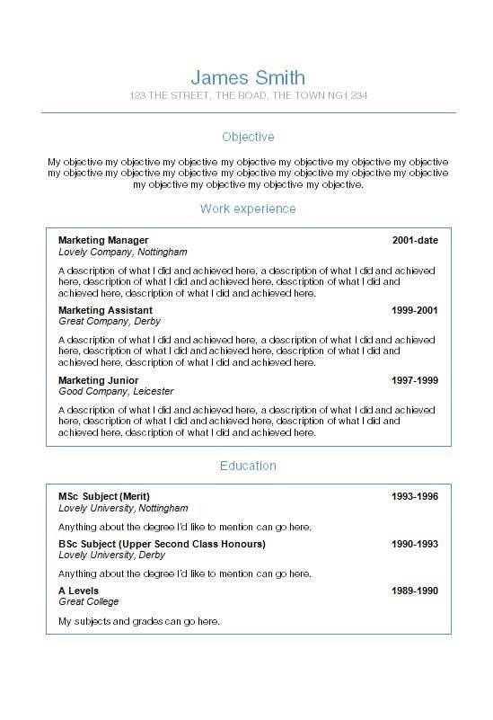 completely free resume template free cv templates 36 to 42 free