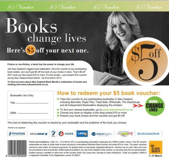 NZ Book Month: print your own $5-off voucher |