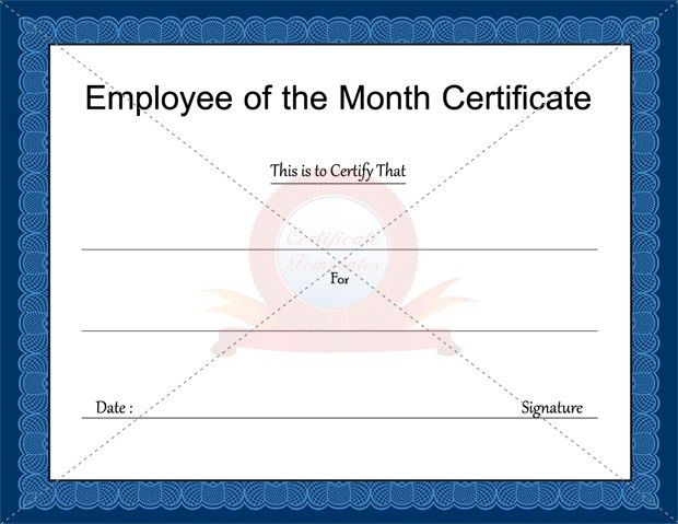 Employee Of The Month Certificate Template | Template Design