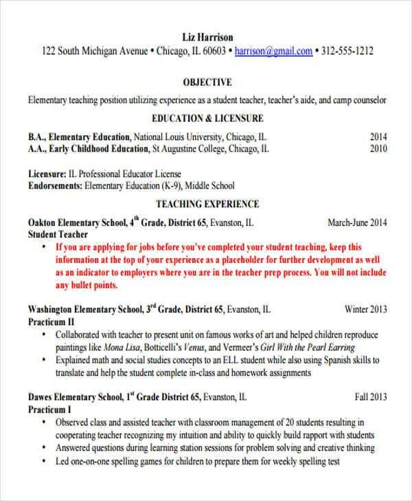 Teaching Resumes - 9+ Free Word, PDF Format Download | Free ...