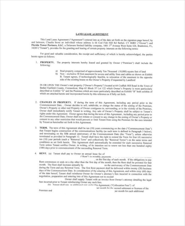 Land Lease Template - 7+ Free Word, PDF Documents Download | Free ...