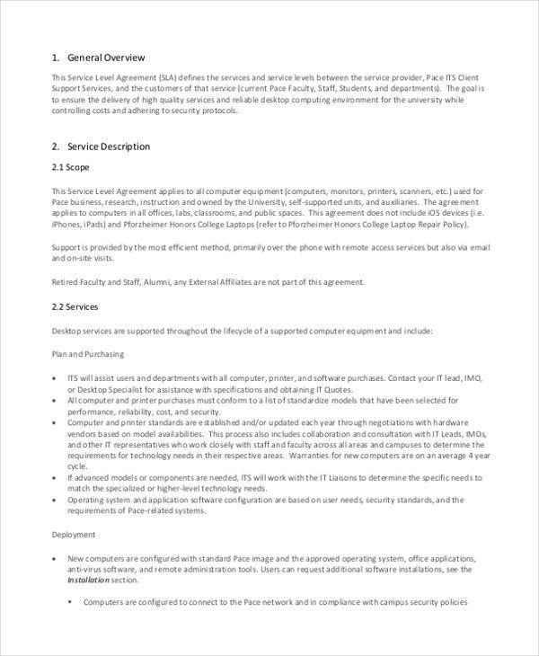 Sample Service Level Agreement Form - 10+ Free Documents in Word, PDF