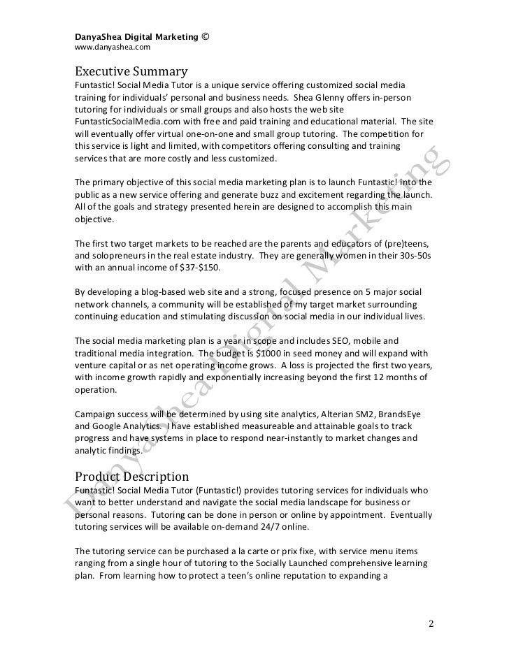 Social Media Marketing Plan: SAMPLE