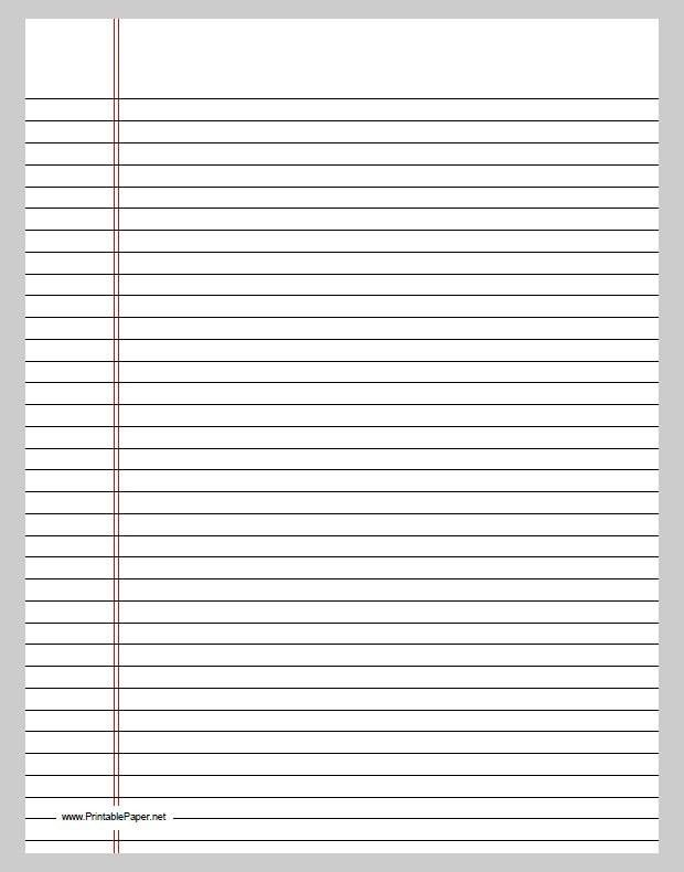 Best Free Printable Lined Paper Template Pictures - Best Resume ...