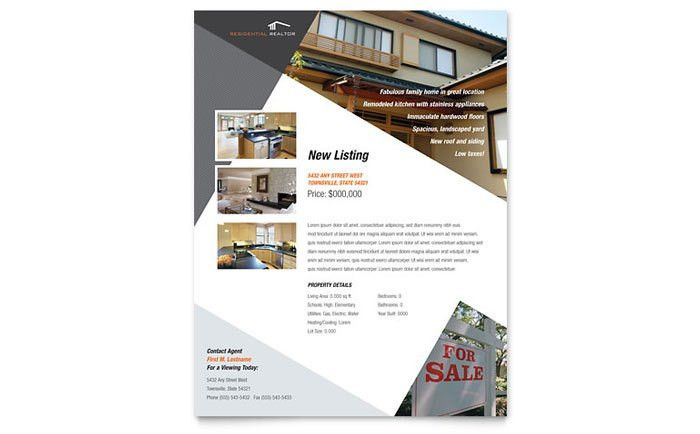 Contemporary & Modern Real Estate Flyer Template Design