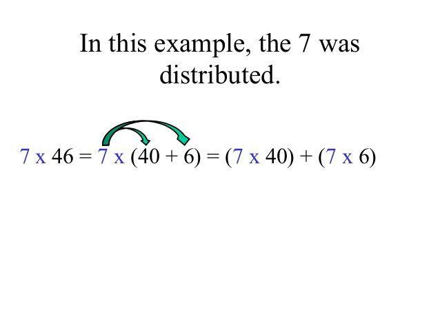 5 - the distributive property