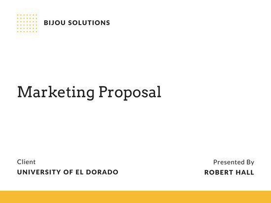 Marketing Proposal Presentation - Templates by Canva