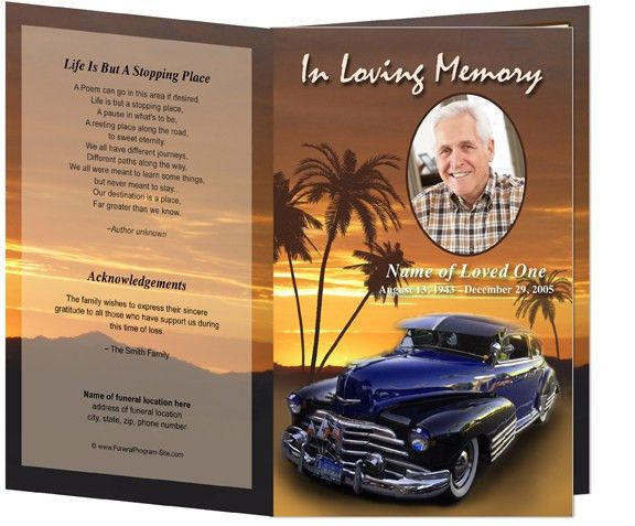 Funeral Order of Service Programs or Obituary Programs: Classic ...