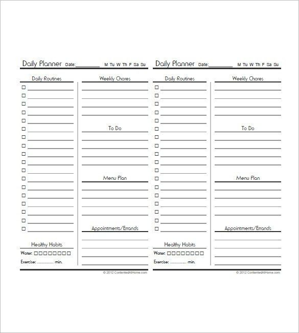 10+ Daily Agenda Templates – Free Sample, Example, Format Download ...