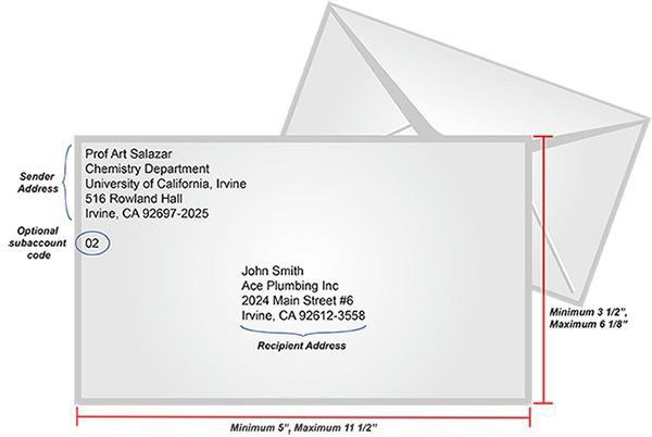 Envelope Label Template   Best Business Template