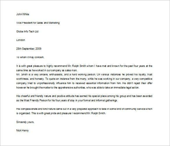 Character Letter For Student - Mediafoxstudio.com