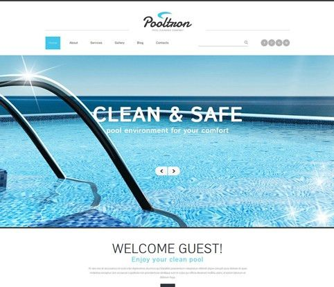 JomBoom.COM | Free joomla templates -Pool cleaning services ...