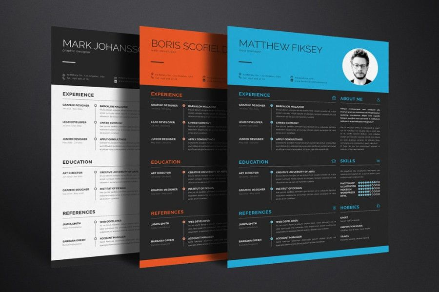 Clean Resume Template Vol.1 - Free Design Resources