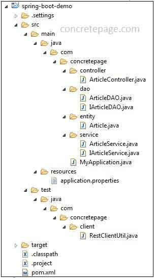Boot REST + JPA + Hibernate + MySQL Example