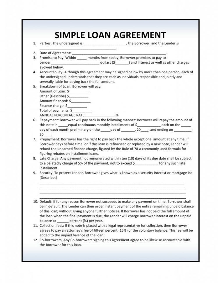 Sample Equipment Loan Agreement Form Sample Equipment Loan ...