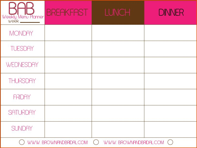 day planner template