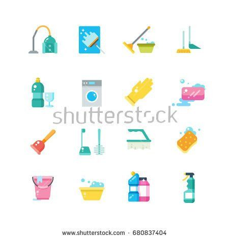 Cleaning Home Services Household Tools Isolated Stock Vector ...