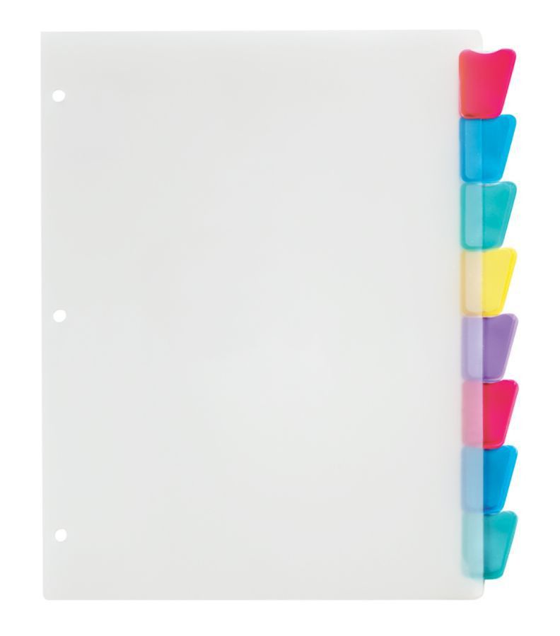 Office Depot Brand Plastic Dividers With Insertable Rounded Tabs ...