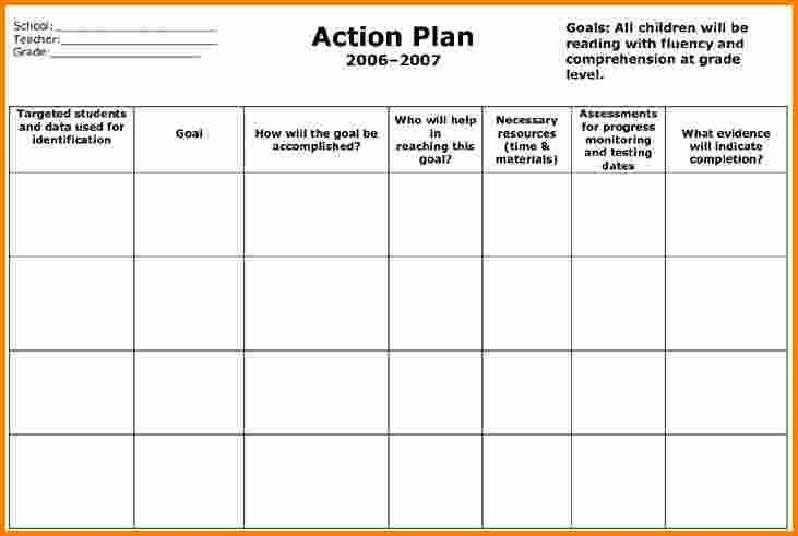 free printable action plan templates