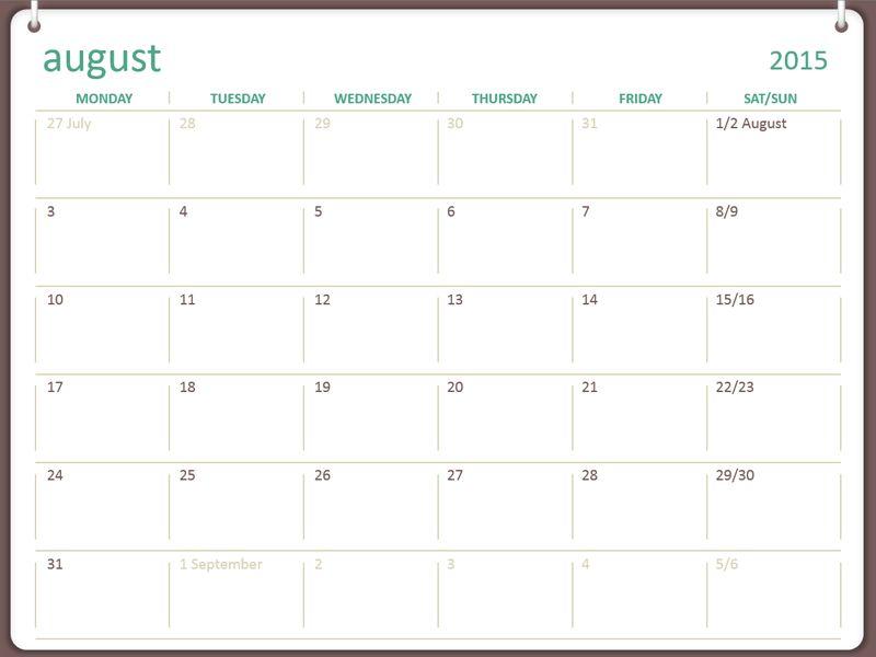 Download Printable 2016 Academic Calendar Calendar Templates Free
