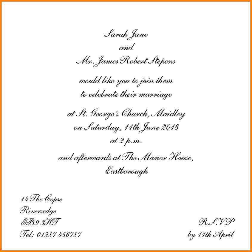 8+ wedding invitation wording templates | artist resume