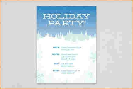 6+ free holiday flyer templates | Outline Templates