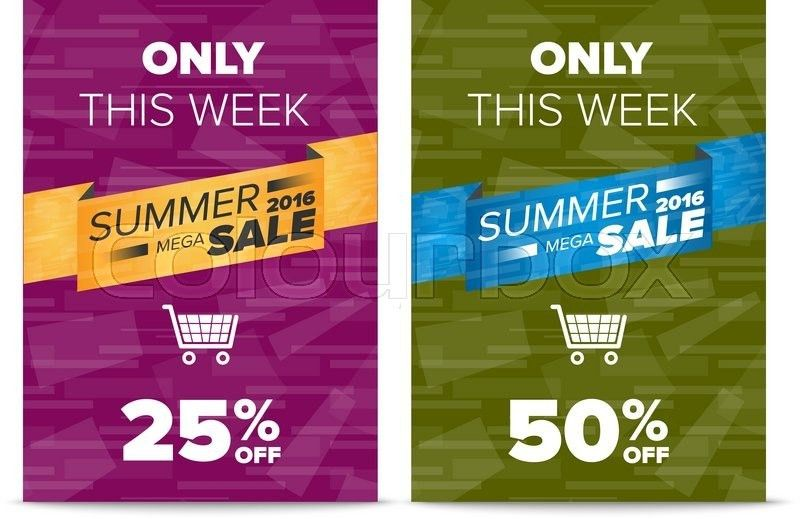 Summer sale discount flyer templates with sample text and shopping ...