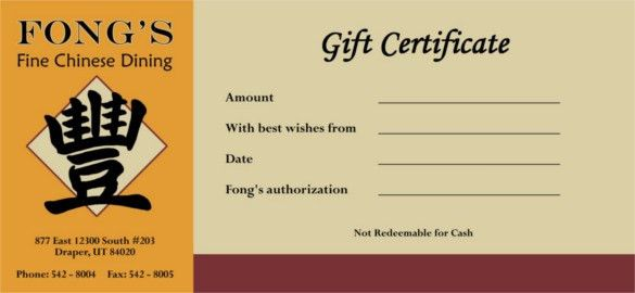 14+ Restaurant Gift Certificate Templates – Free Sample, Example ...