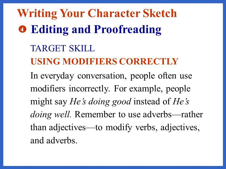 Describing a character... From Reading to Writing Character ...