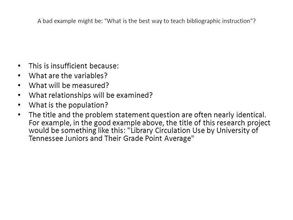 The Problem Statement in the Research Paper - ppt video online ...